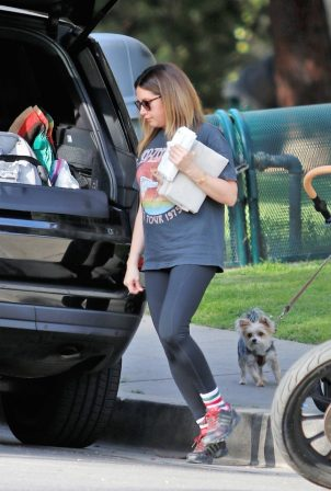 Ashley Tisdale - With Christopher French and their newborn baby girl Jupiter Iris in Los Feliz