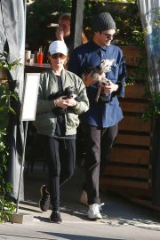 Ashley Tisdale with her husband out in Los Feliz
