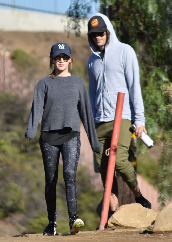 Ashley Tisdale With Husband Christopher French Hike in Los Angeles