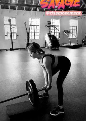 Ashley Tisdale - Workout - Social Media Pics