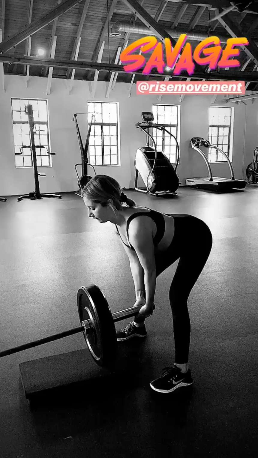 Ashley Tisdale – Workout – Social Media Pics