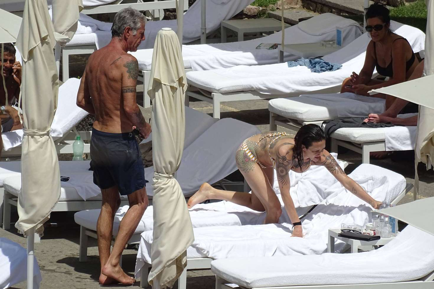 Asia Argento 2017 : Asia Argento: Bikini Candids at the hotel swimming pool in Rome-16