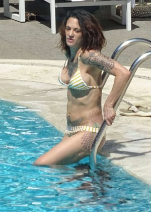 Asia Argento Bikini Candids At The Hotel Swimming Pool