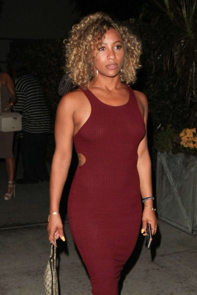 Asia'h Epperson at Mastro's in Beverly Hills