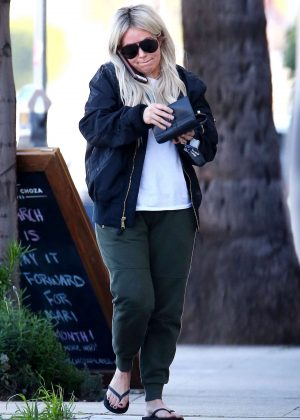 Aubrey O'Day out in West Hollywood