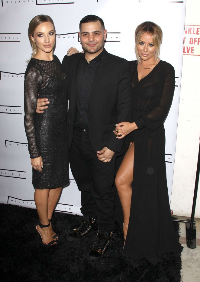 Aubrey ODay & Shannon Bex: Michael Costello Capsule Collection Launch Party -09