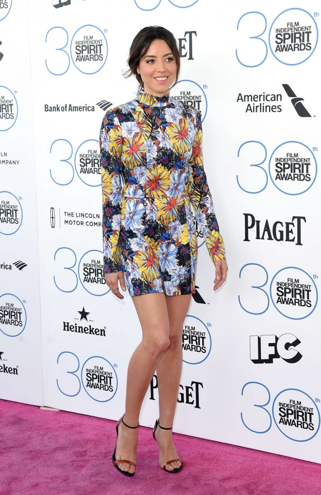 Aubrey Plaza: 2015 Film Independent Spirit Awards -01