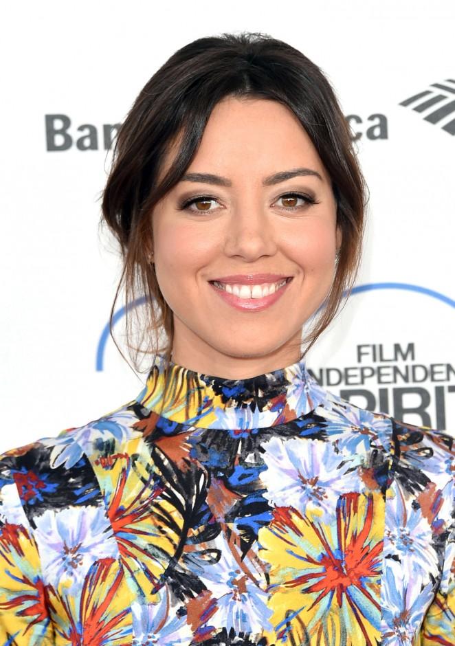 Aubrey Plaza: 2015 Film Independent Spirit Awards -03