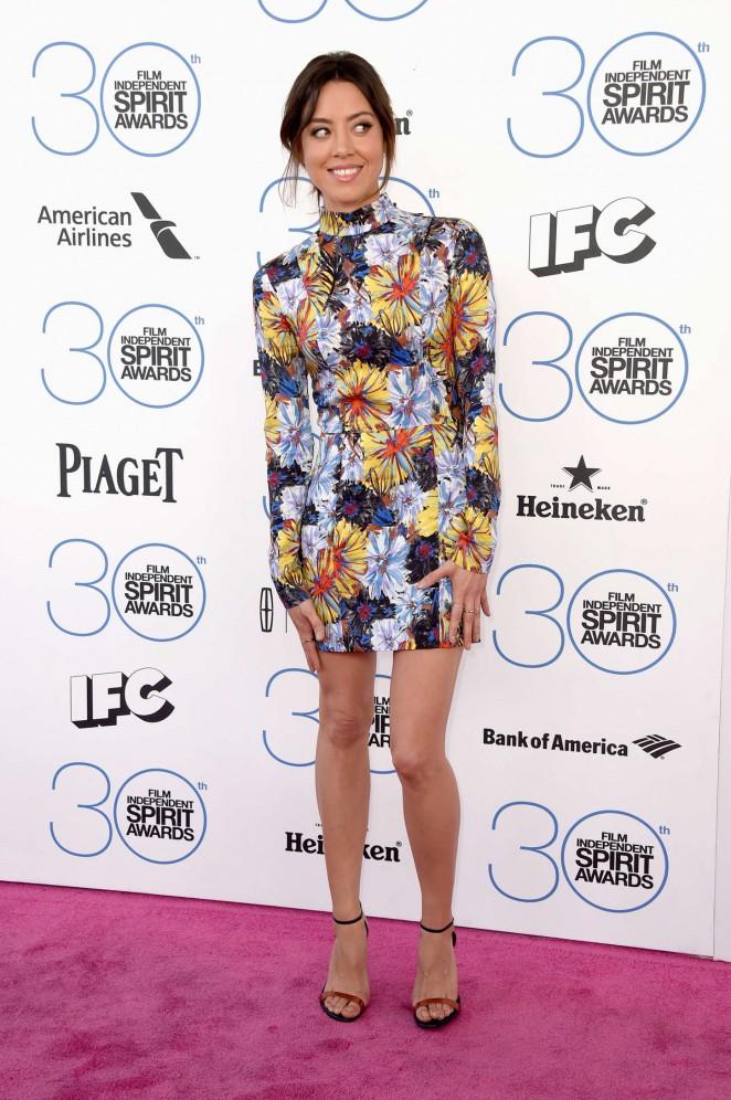 Aubrey Plaza: 2015 Film Independent Spirit Awards -08