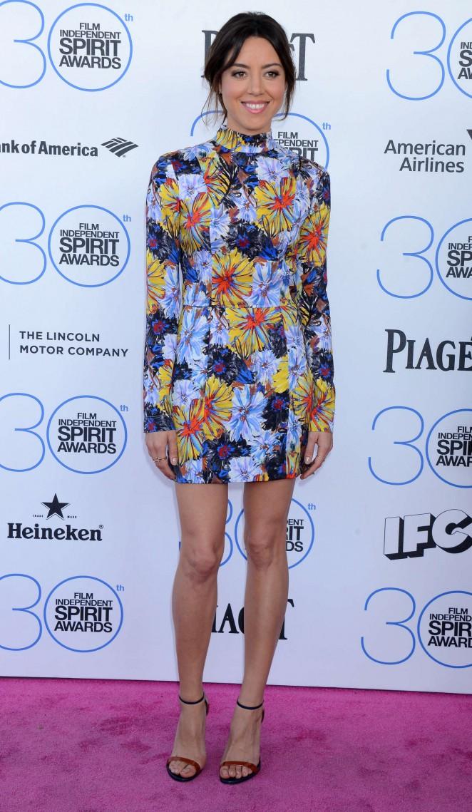 Aubrey Plaza: 2015 Film Independent Spirit Awards -23