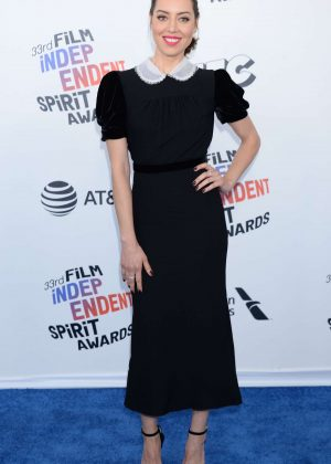 Aubrey Plaza - 2018 Film Independent Spirit Awards in Santa Monica