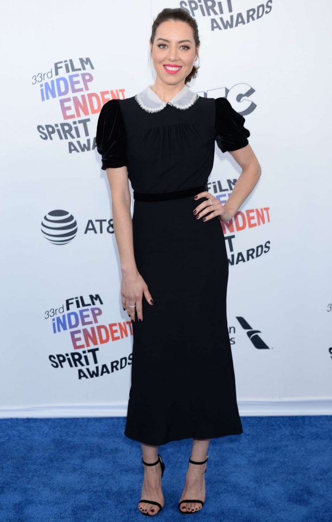 Aubrey Plaza – 2018 Film Independent Spirit Awards in Santa Monica