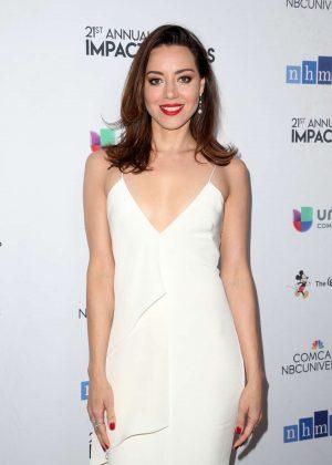 Aubrey Plaza - 2018 National Hispanic Media Coalition Impact Awards in LA