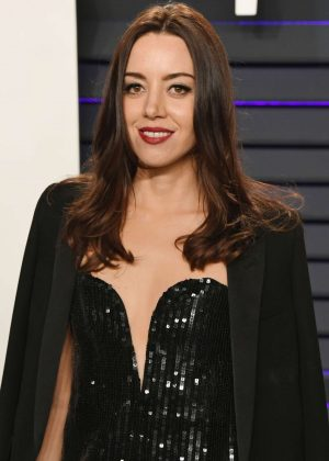 Aubrey Plaza - 2019 Vanity Fair Oscar Party in Beverly Hills