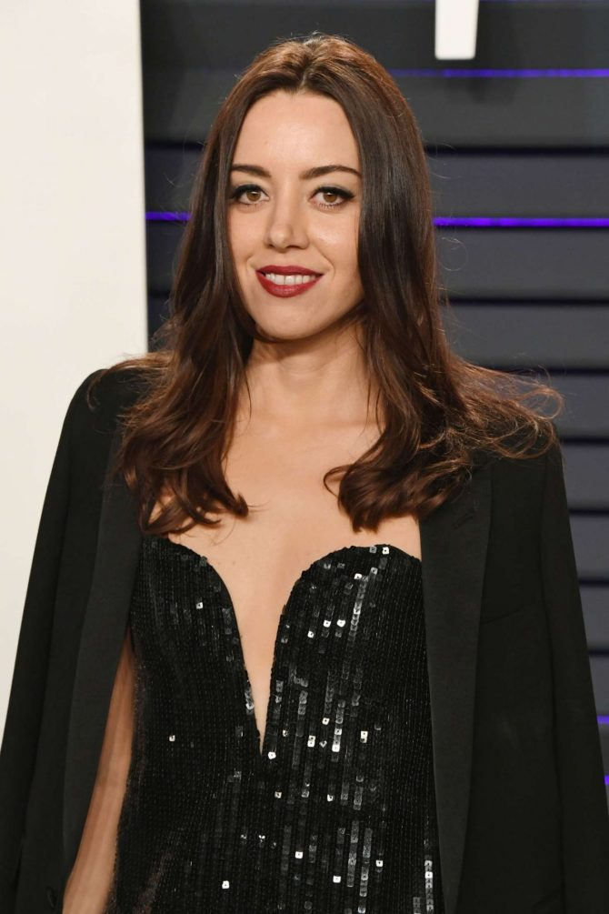 Aubrey Plaza - 2019 Vanity Fair Oscar Party in Beverly Hills