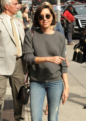 Aubrey Plaza - Arrives at 'The Late Show With Stephen Colbert' in New York