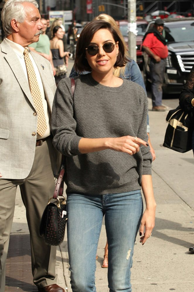 Aubrey Plaza: Arrives at The Late Show With Stephen Colbert -02