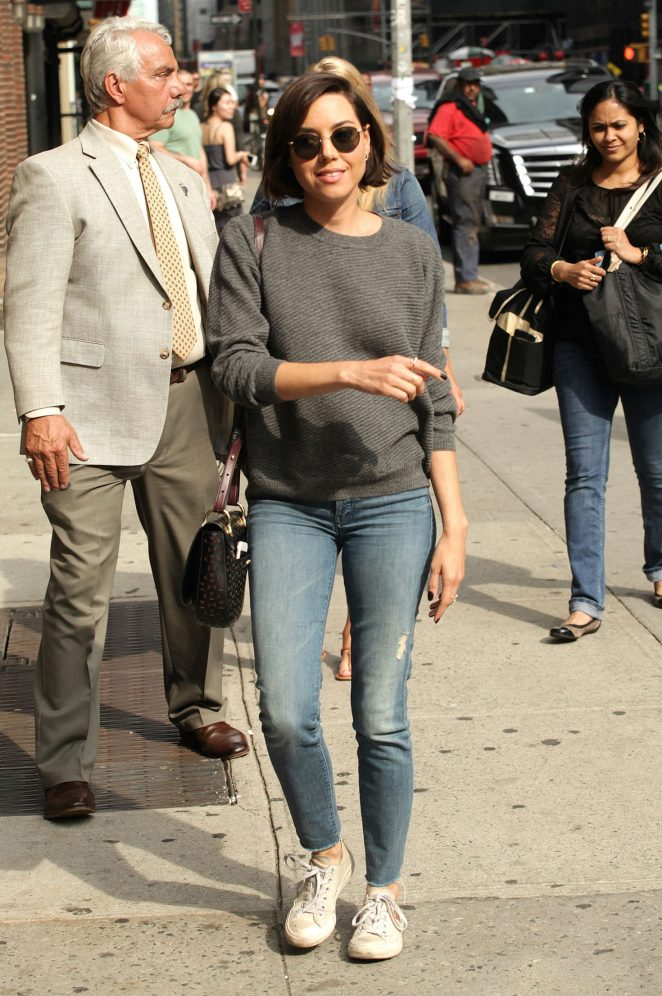 Aubrey Plaza: Arrives at The Late Show With Stephen Colbert -06