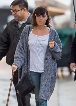 Aubrey Plaza - Arriving at 'Jimmy Kimmel Live' in LA