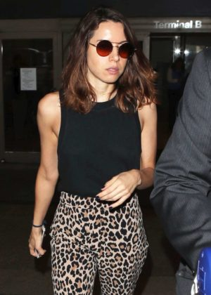 Aubrey Plaza at LAX Airport in Los Angeles