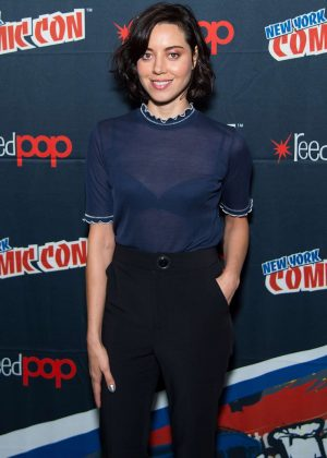Aubrey Plaza at New York Comic-Con in NYC