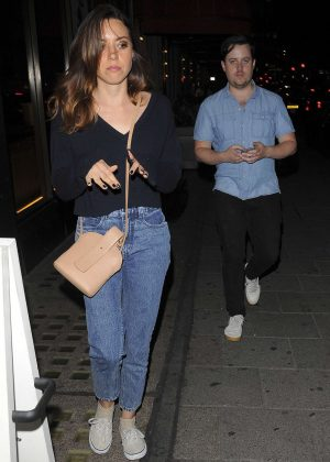 Aubrey Plaza at Sexy Fish in Mayfair