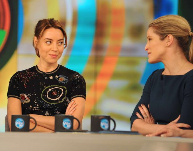 Aubrey Plaza at 'The View' TV Show in New York