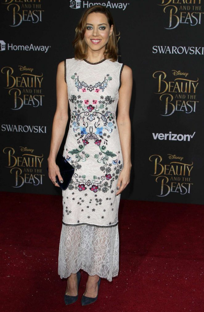 Aubrey Plaza - 'Beauty and the Beast' Premiere in Los Angeles