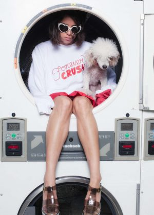 Aubrey Plaza by Laundromat Photoshoot