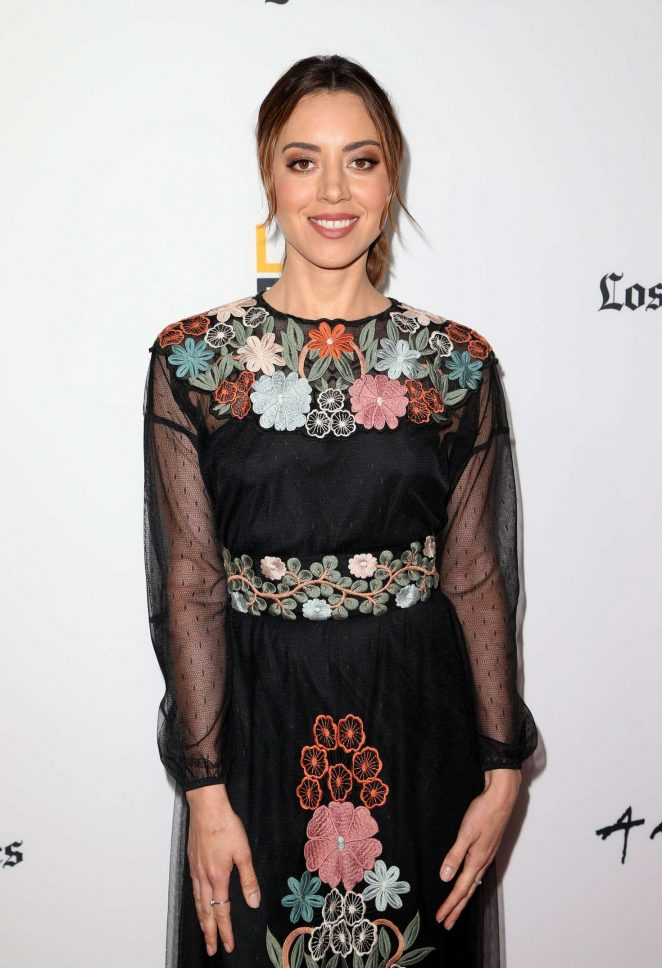 Aubrey Plaza - LA Film Festival 'The Little Hours' Screening in Culver City