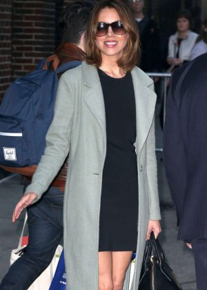 Aubrey Plaza - Leaves The Late Show with Stephen Colbert in NYC