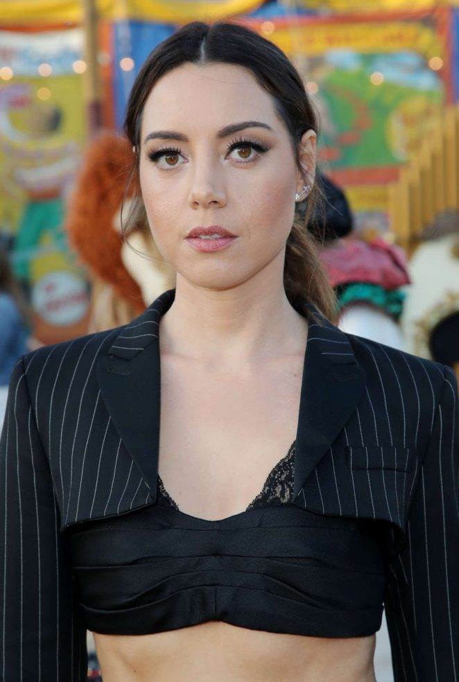 Aubrey Plaza - Moschino Show SS 2019 Menswear and Women's Resort Collection in LA