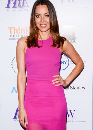 Aubrey Plaza - Moves Power Women Forum in New York