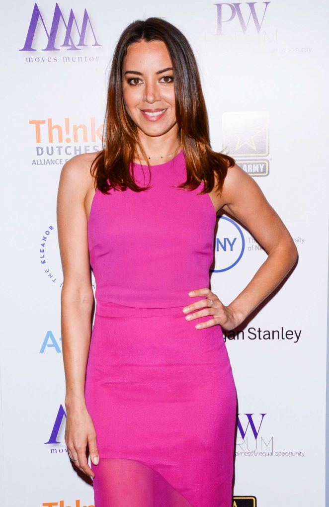 Aubrey Plaza - Moves Power Women Forum in New York