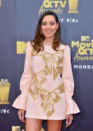 Aubrey Plaza - MTV Movie and TV Awards 2018 in Santa Monica