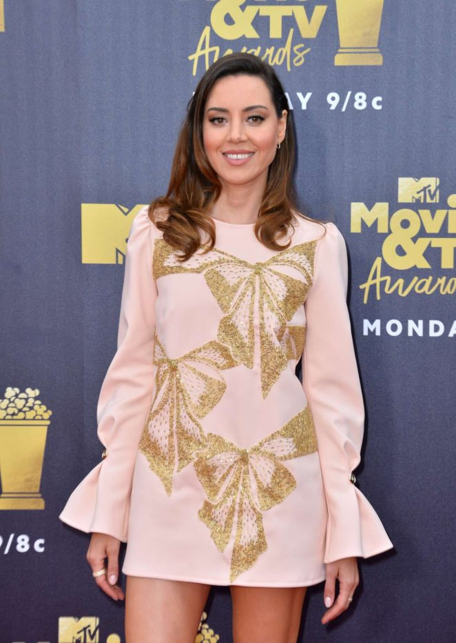 Aubrey Plaza – MTV Movie and TV Awards 2018 in Santa Monica