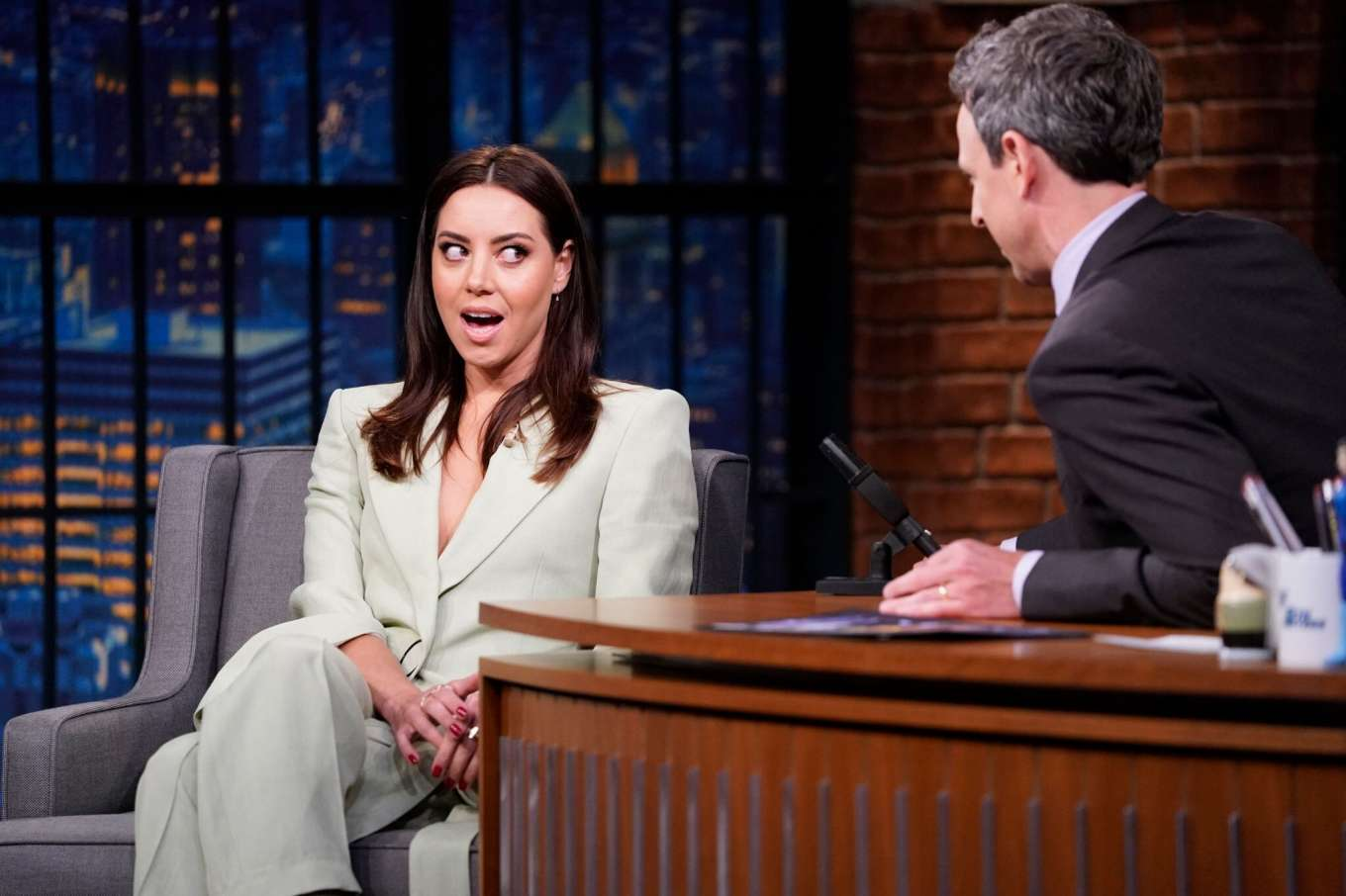 Aubrey Plaza - On 'Late Night with Seth Meyers' in New York City