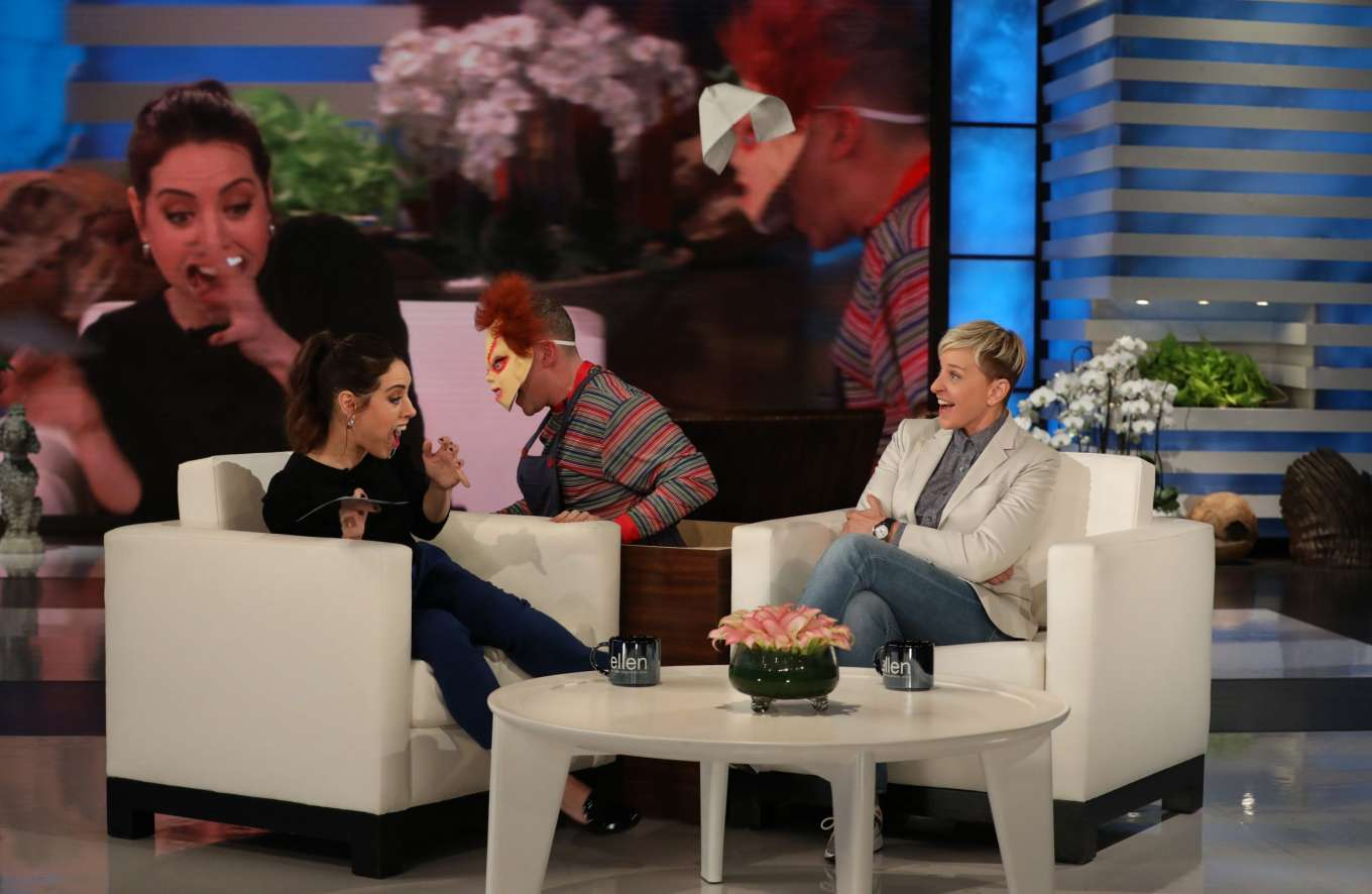 Aubrey Plaza - On The Ellen DeGeneres Show in LA
