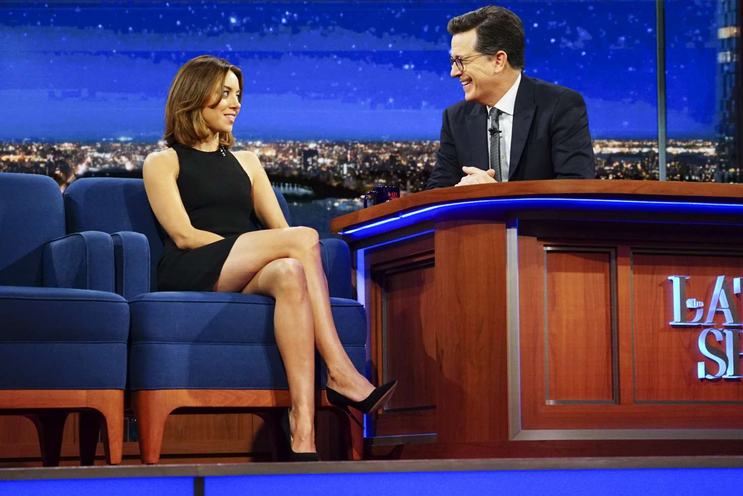 Aubrey Plaza On The Late Show With Stephen Colbert In
