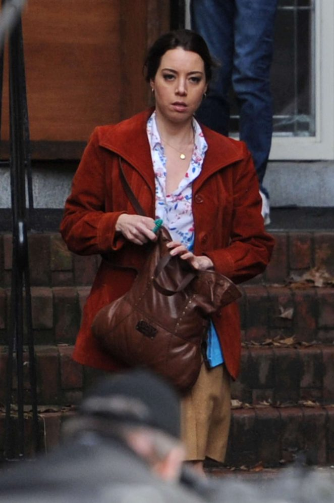 Aubrey Plaza - On the set of 'Chucky' in Vancouver