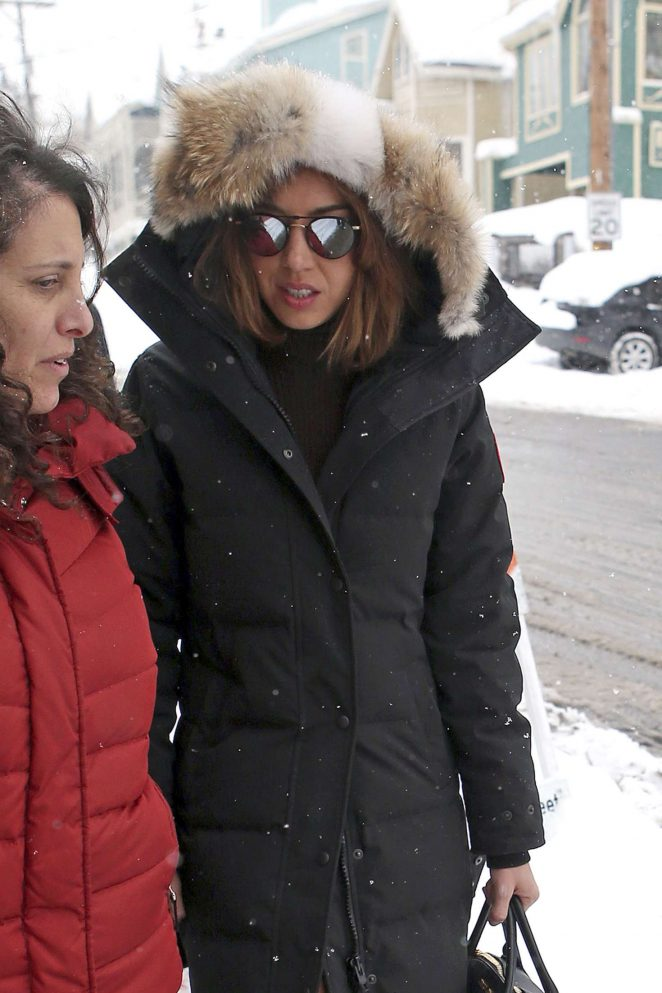 Aubrey Plaza out at 2017 Sundance Film Festival in Utah