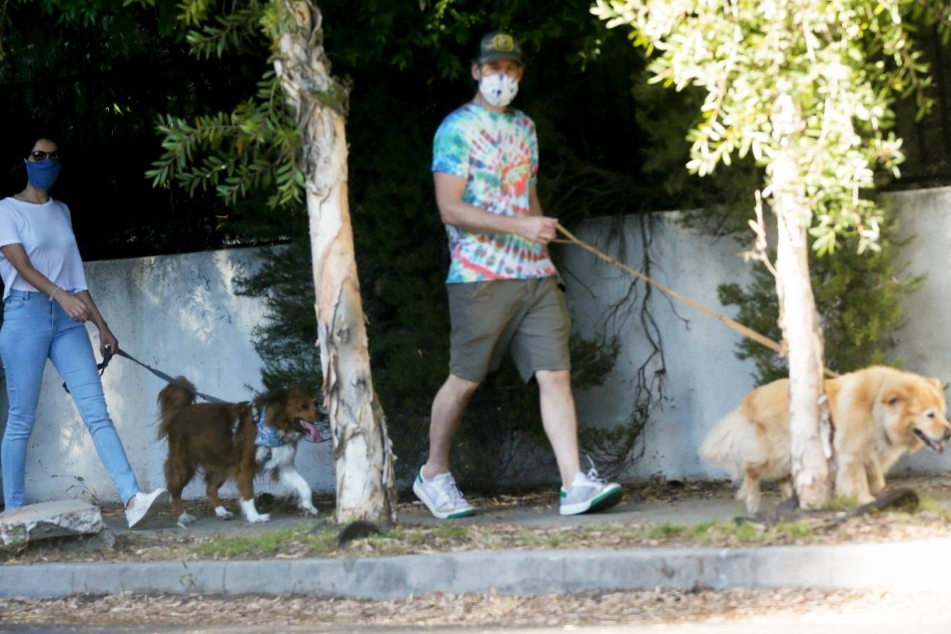 Aubrey Plaza - Out with Jeff Baena for a dogs walk in Los Angeles