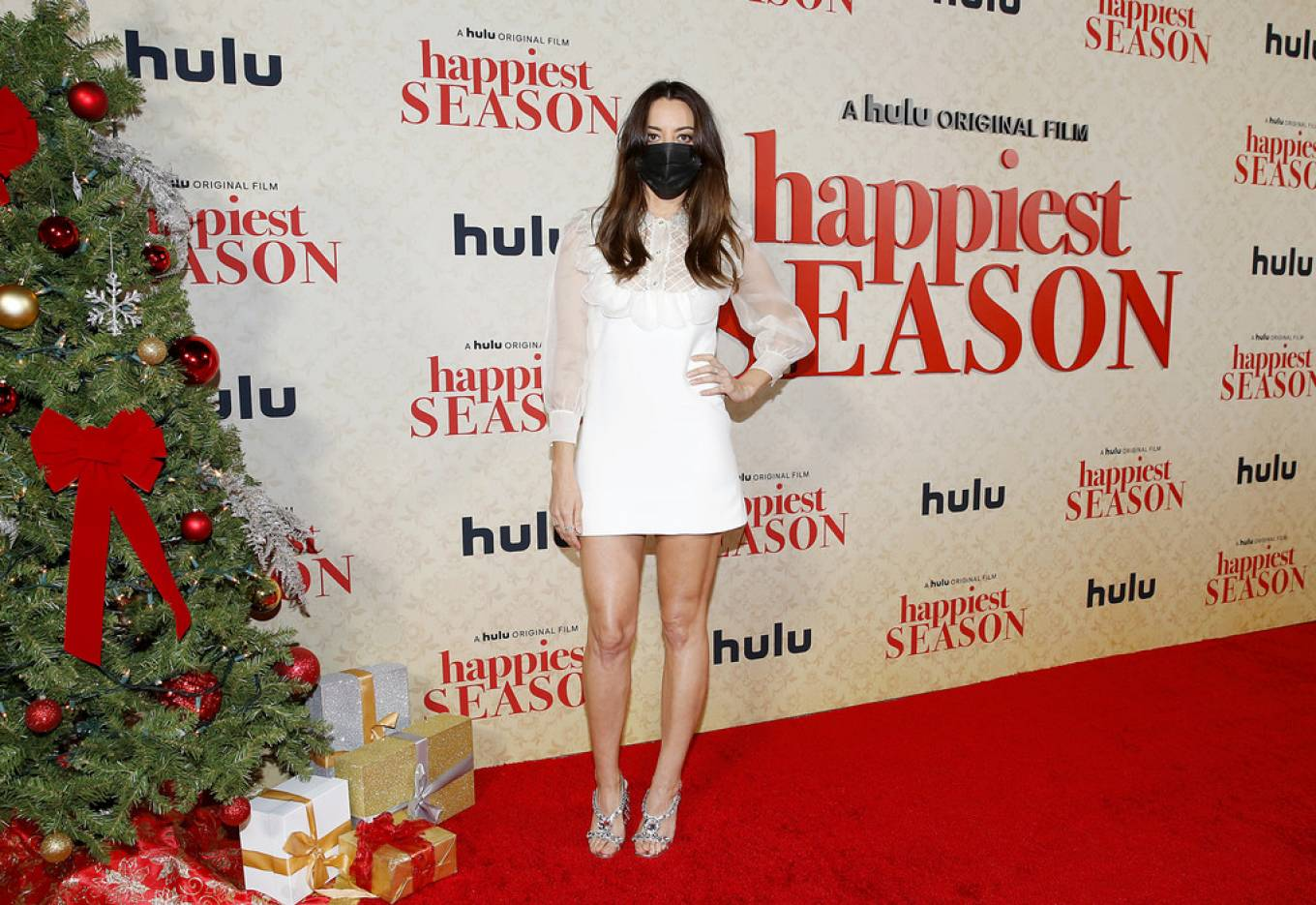 Aubrey Plaza - Possing at 'Happiest Season' Drive-In Premiere in Los Angeles