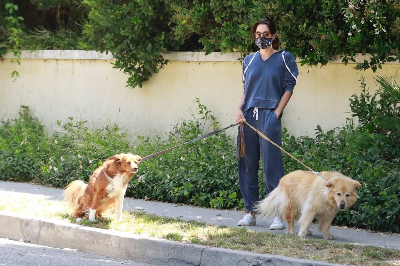 Aubrey Plaza 2020 : Aubrey Plaza – Walking her dogs in Los Feliz-09