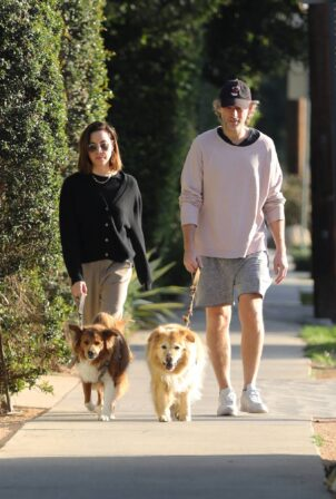 Aubrey Plaza - With husband Jeff Baena out in Los Angeles