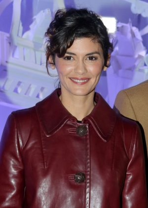 Audrey Tautou - Galeries Lafayette Haussmann Christmas Lights Switch On in Paris