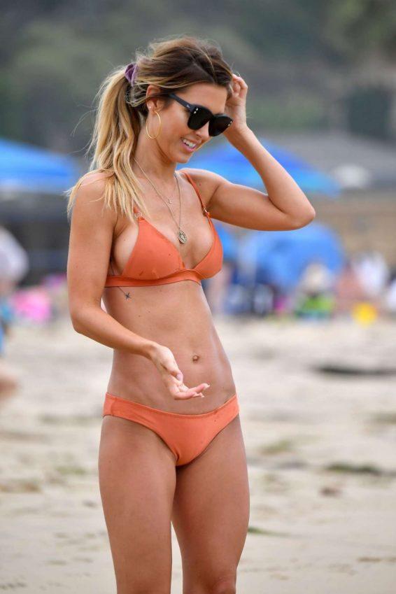Audrina Patridge in Bikini at a beach in Santa Monica