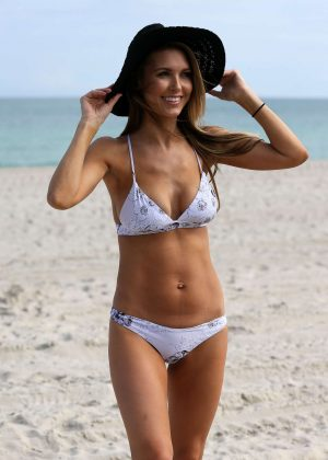 Audrina Patridge in Bikini on Miami Beach