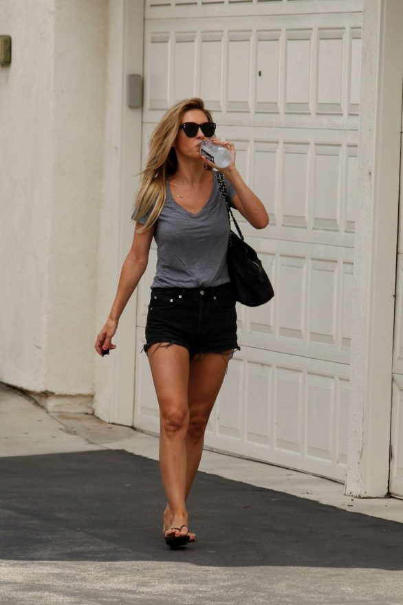 Audrina Patridge in Black Shorts - Out in Irvine