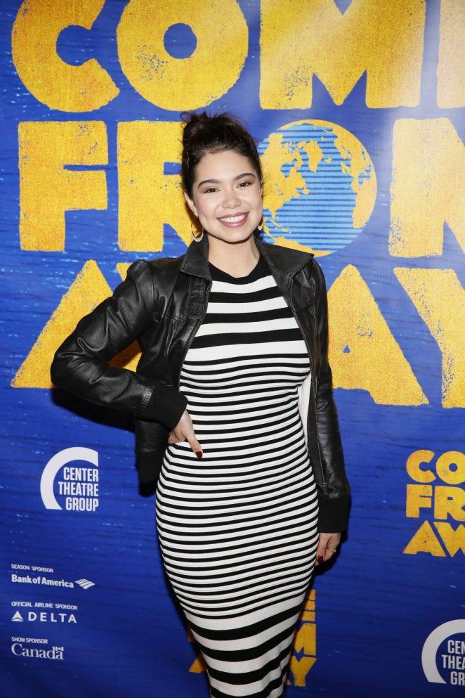 Auli'i Cravalho - Opening night performance of 'Come From Away' in Los Angeles